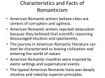 Characteristics and Facts of Romanticism