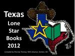 Texas  Lone Star Books 2012