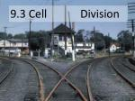 9.3 Cell  Division
