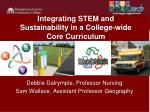 Integrating STEM and Sustainability in a College-wide Core Curriculum