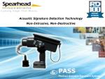 Acoustic Signature Detection Technology Non-Intrusive, Non-Destructive Inspection Devices