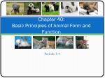 Chapter 40: Basic Principles of Animal Form and Function