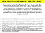LESA: LAND EVALUATION AND SITE ASSESSMENT