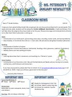 Ms. Peterson's January Newsletter