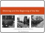 Blitzkrieg and the Beginning of the War