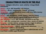 Characters in Death on the Nile