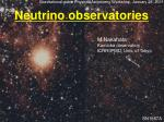Neutrino observatories