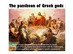 The pantheon of Greek gods