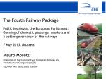 The Fourth Railway Package  Public hearing at the European Parliament: