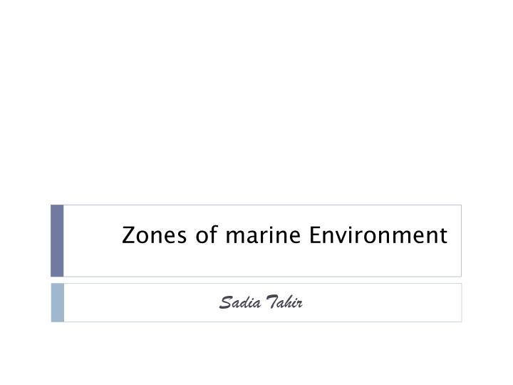 zones of marine environment n.