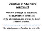 Objectives of Advertising Assignment