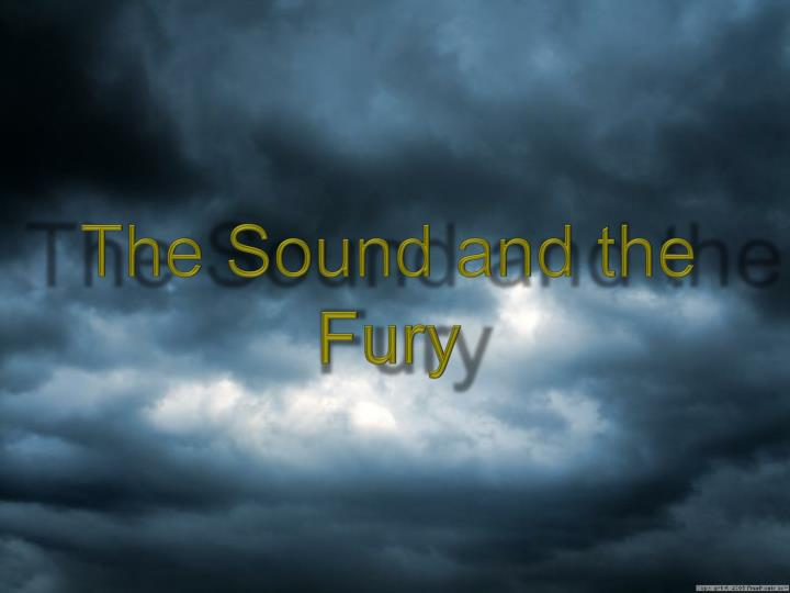 the sound and the fury n.