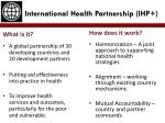 International Health Partnership (IHP+)