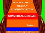 INTRODUCTION TO HUMAN COMMUNICATION