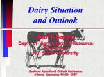 Dairy Situation and Outlook