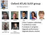 Oxford ATLAS SUSY group