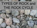 TYPES OF ROCK and THE ROCK CYCLE