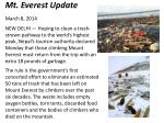 Mt. Everest Update