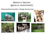 Nature vs. Nurture  (genes vs. environment)