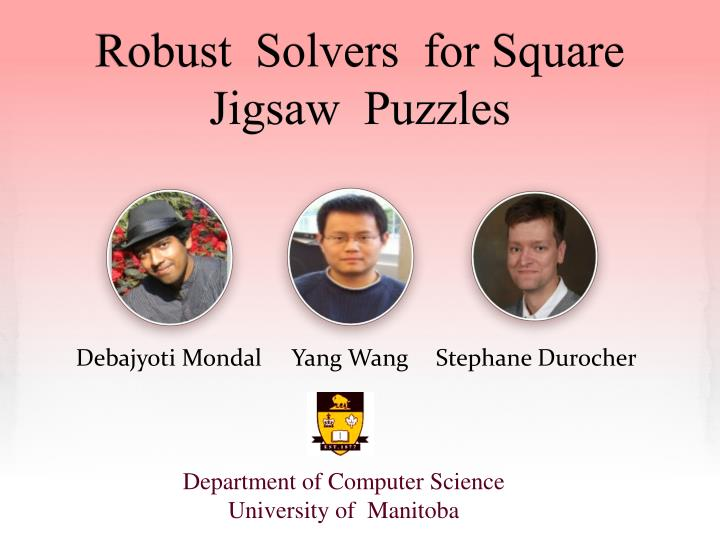 robust solvers for square jigsaw puzzles n.