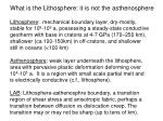What is the Lithosphere: it is not the asthenosphere