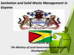 Sanitation and Solid Waste Management in Guyana