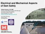 Electrical and Mechanical Aspects of Dam Safety