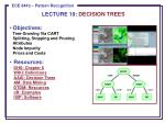 LECTURE  19:  DECISION TREES