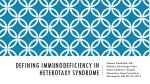 Defining immunodeficiency in heterotaxy syndrome