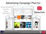 Advertising Campaign Plan for: