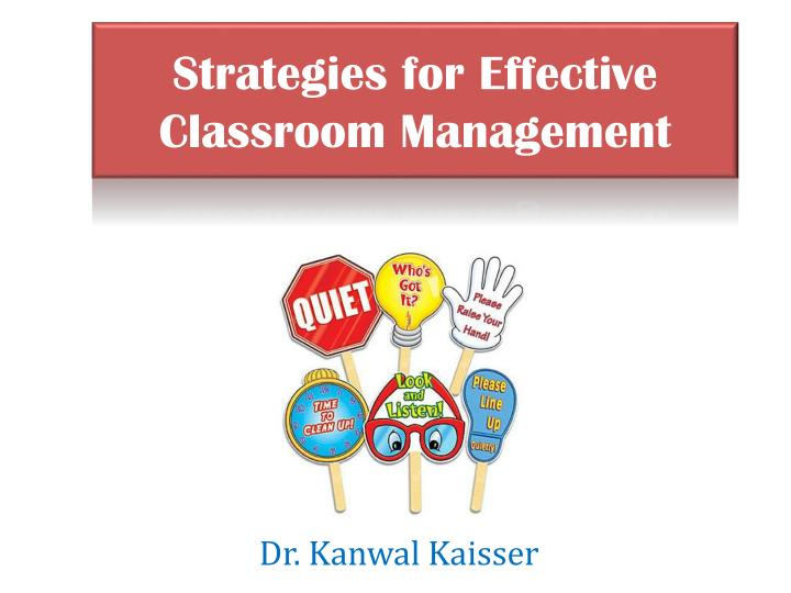 strategies for effective classroom management n.
