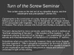 Turn of the Screw  Seminar