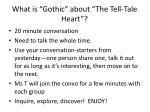 """What is """"Gothic"""" about """"The Tell-Tale Heart""""?"""