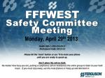 FFFWEST Safety Committee Meeting