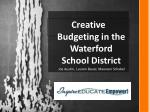 Creative  Budgeting in the Waterford School District