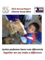 2013 Annual Report Informe Anual  2013