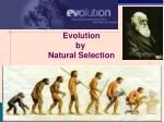 Evolution by Natura l Selection