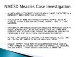 NMCSD Measles Case Investigation