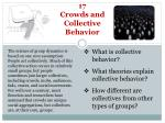 17 Crowds and Collective Behavior