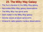 23. The Milky Way Galaxy