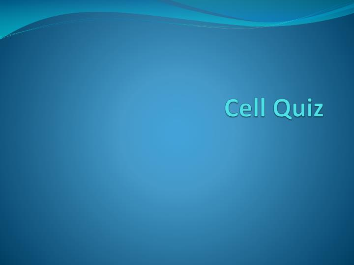 cell quiz n.