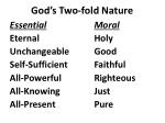 God's Two-fold Nature
