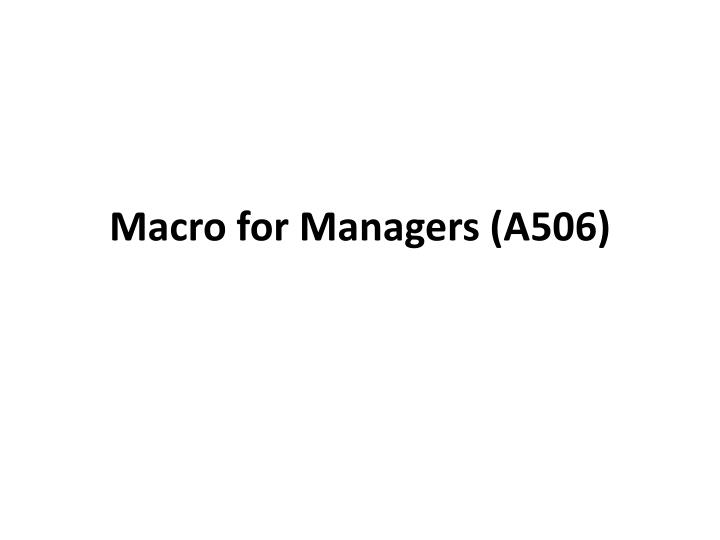 macro for managers a506 n.
