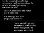 - Hydro-dam, fresh water ecosystem, biodiversity, forest ecosystems at upstream watershed