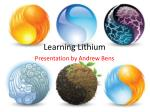 Learning Lithium