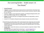 "Our Learning Garden - Grade Lesson 1-6 ""Pea Shoots """