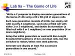 Lab 9a – The Game of Life