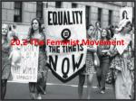 20.2 The Feminist Movement