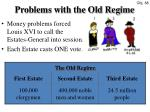 Problems with the Old Regime
