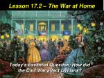 Lesson 17.2 – The War at Home